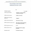 Dāņu valodas akreditācijas lapa