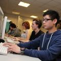 Boston College: Media course students