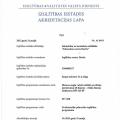 Biznesa Angļu valodas akreditācijas lapa